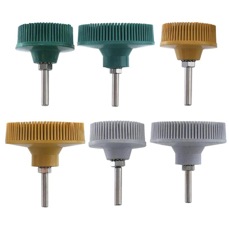 Electric Drill Disc Brush 50/80/120 Bristle Disc 2/3inch Rubber Abrasive Brush Polishing Wheels Accessories Polishing Brush