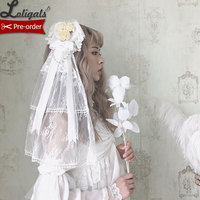 The Princess of Sea ~ Heart Style Lolita Headdress w. Veil by Alice Girl ~ Pre order