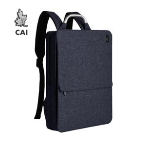 CAI 2020 Водонепроницаемый модный мужской рюкзак минимализм Задняя сумка 14