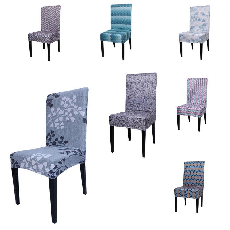 Эластичный чехол из спандекса для сидений, с принтом, обеденный, чехол для кресла, современный, съемный, защита от грязи, чехол растягивающий...