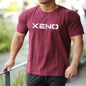 Новинка 2020, брендовая мужская футболка s muscle, бодибилдинг, фитнес, мужские топы, хлопковые майки плюс, футболка больших размеров, футболка с к...