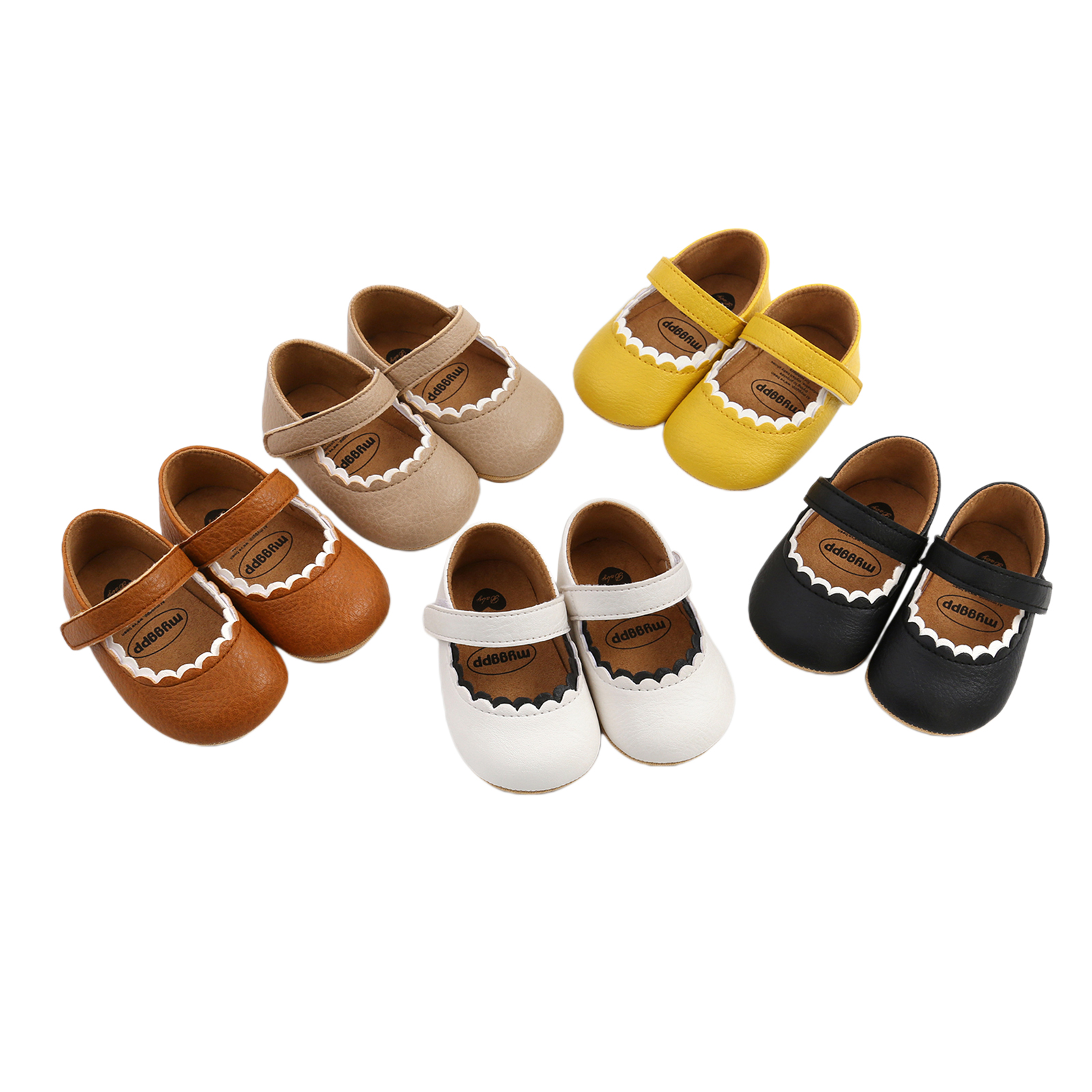 Newborn Toddler Prewalker With Hook And Loop Princess Shoes Convenient To Wear And Take Off Wear-Resistant Soft And Comfortable