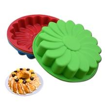 8 Inch Silicone Cake Mold Birthday Mousse Chiffon Oven Baking Sunflower Round Dish DIY Kitchen Tools