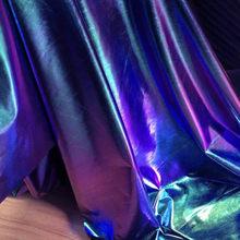 Iridescente elastano tecido elástico para diy palco cosplay fotografia traje fundo 60