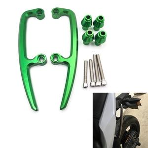 Motorcycle rear seat passenger armrest handle For Kawasaki Z650 2017 2018 2019 Ninja 650 rail grab bars pillion CNC aluminum