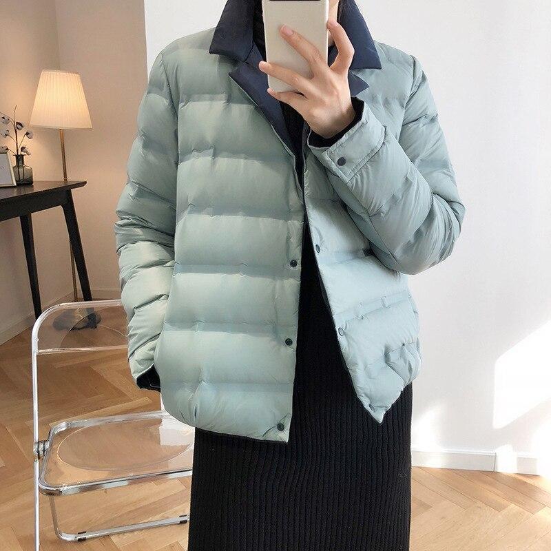 Abrigo de invierno para mujer 2019 abrigo de manga larga con cuello de pato blanco con plumón azul cálido Casaco femenino abrigo de gran tamaño para mujer