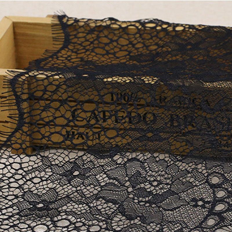 100 Yards/lot Flower Embroidered Lace Fabric Trim Ribbons DIY Sewing Handmade Materials New Arrival Eyelash Lace Trimming