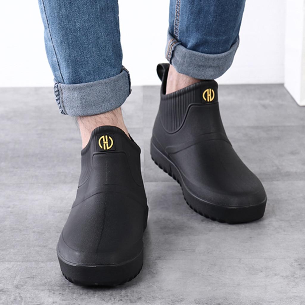 Men Casual Shoes 2020 Summer Shoes Men Outdoor Waterproof Short Ankle Rain  Boots Casual Men Shoes Slip On Water Shoes|Men's Casual Shoes| - AliExpress