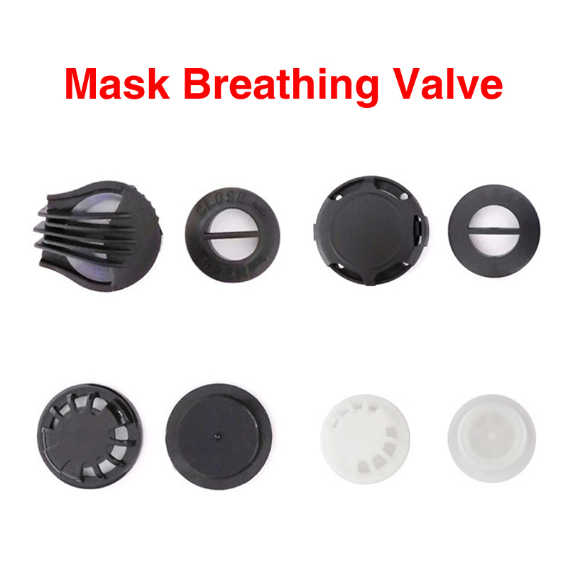 5pcs Cycling Mask Air Breathing Valve Movement Sports Running Mask One-way Breathing Replacement Valve Mask Accessories Valve