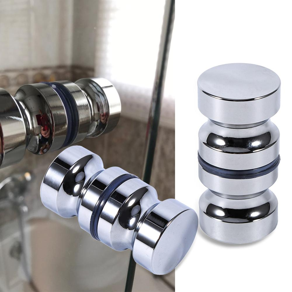 Door Handle Aluminum Alloy Bathroom Shower Cabinet Handle Screw Home Hardware