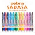 Японская гелевая ручка JIANWU  1 шт.  zebra sarasa JJ15  для сока  нейтральная ручка  цветные маркеры  0 5 мм  20 цветов