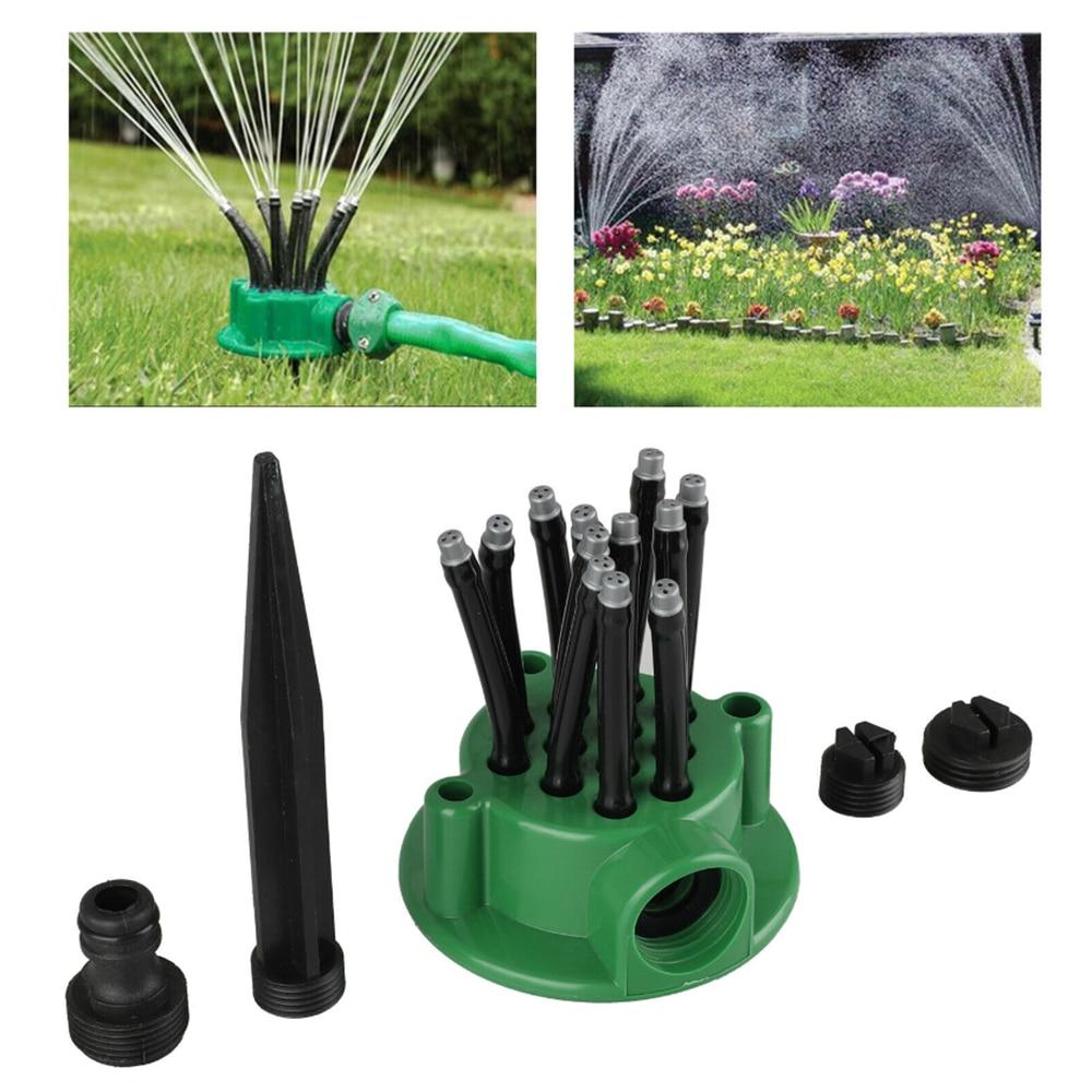 "5pcs 1//2/"" Garden Lawn Yard Grass Full 360 Rotary Water Irrigation Sprinkler Head"