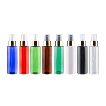 50pc/lot  Empty Transparent Perfume Spray Bottle 100ml Clear Plastic Bottle With Gold Aluminum Mist Sprayer Pump Container