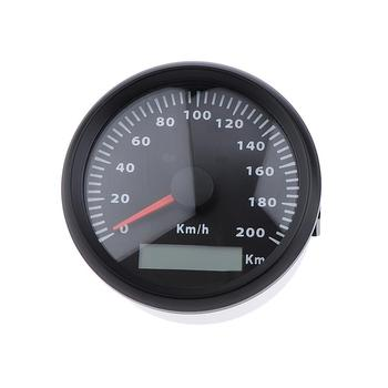 85mm 200km/h Retro Motorcycles Universal Mini Stainless Steel Mechanical Odometer Speedometer Mash Waterproof