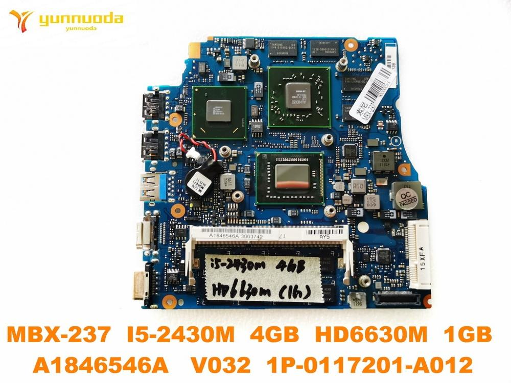 Original For SONY MBX-237 Laptop  Motherboard MBX-237  I5-2430M  4GB HD6630M  1GB  A1846546A  V032 1P-0117201-A012 Tested Good