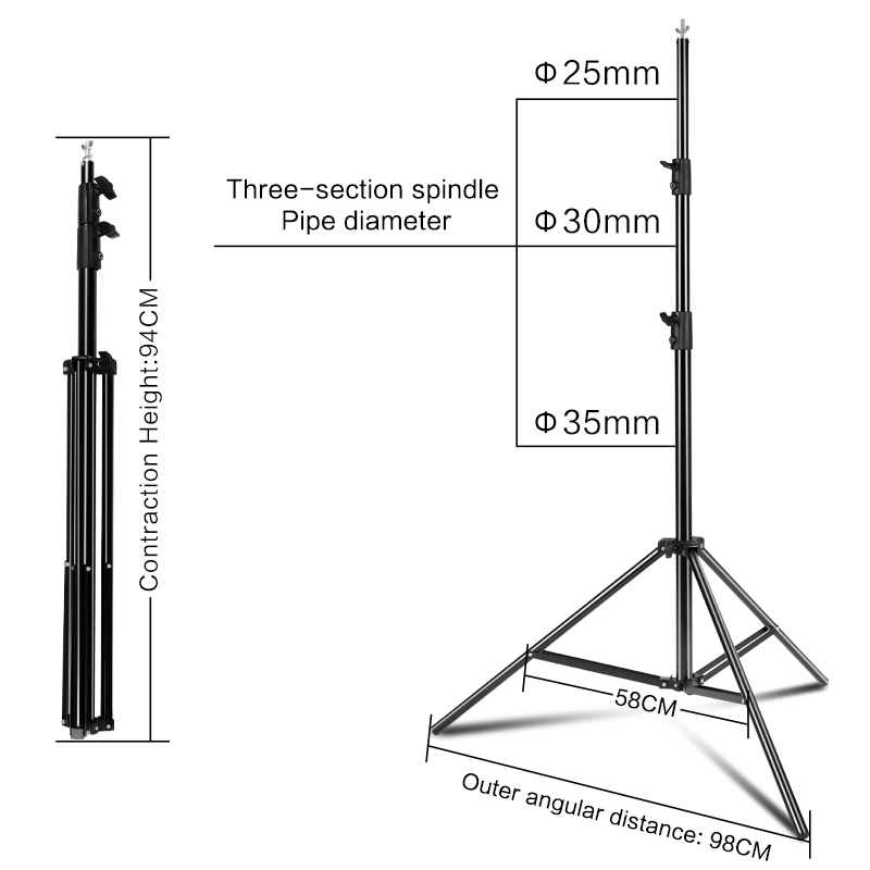 Image 5 - Photography 3*4M Background Backdrop Stand Support System Kit for Photo Studio with 3 Pcs White Black Green Muslin BackdropsBackground   -