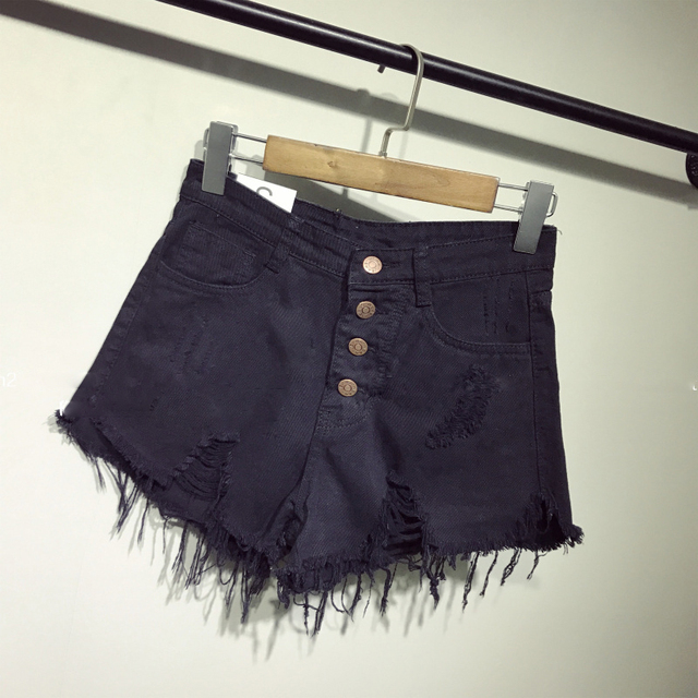 new arrival casual summer hot sale denim women shorts high waists fur-lined leg-openings Plus size sexy short Jeans  1