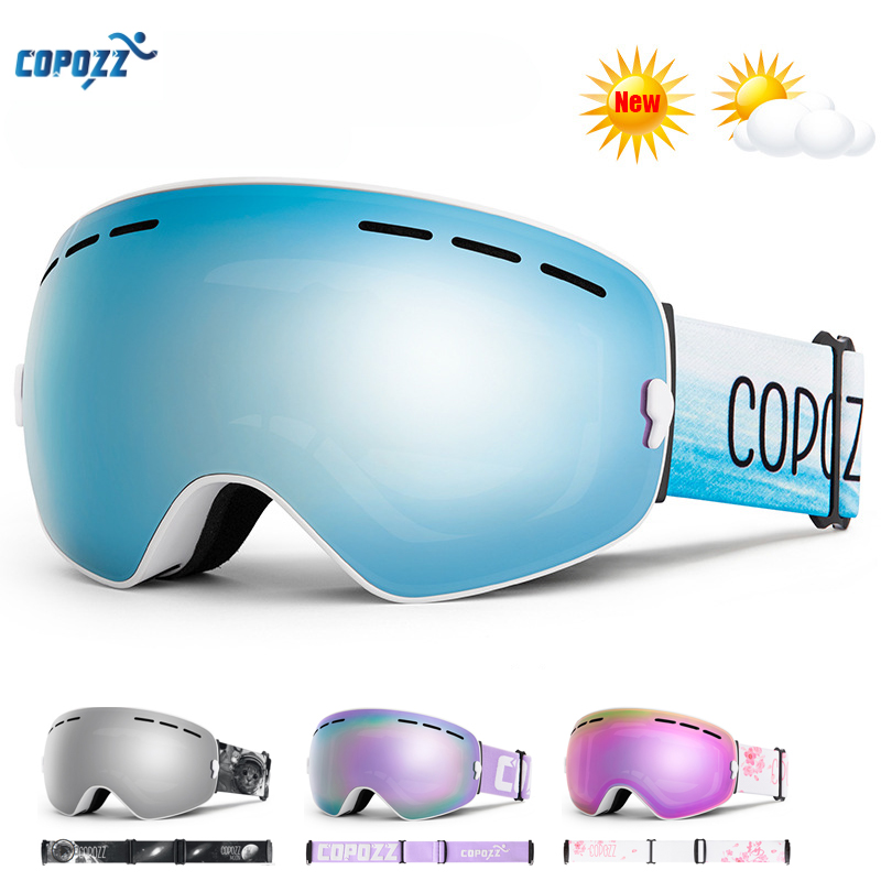 COPOZZ лыжные очки UV400 противотуманная большая Лыжная маска очки для катания на лыжах Снег мужские женские очки для сноуборда двухслойные линзы