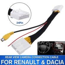 24Pin видео вход переключатель обратная парковка камера RCA Кабель-адаптер для Renault Stepway Vivaro Dacia Sandero Clio 4