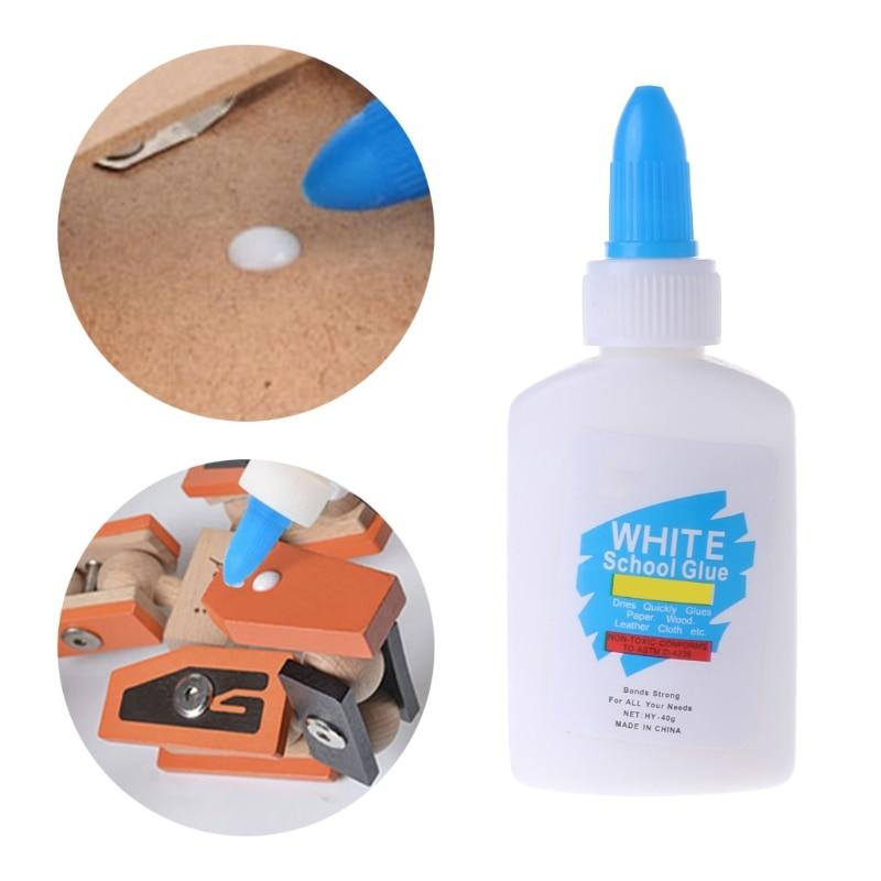 White Glue Liquid Washable Sticker Super Strong Bond Paper Craft School Office