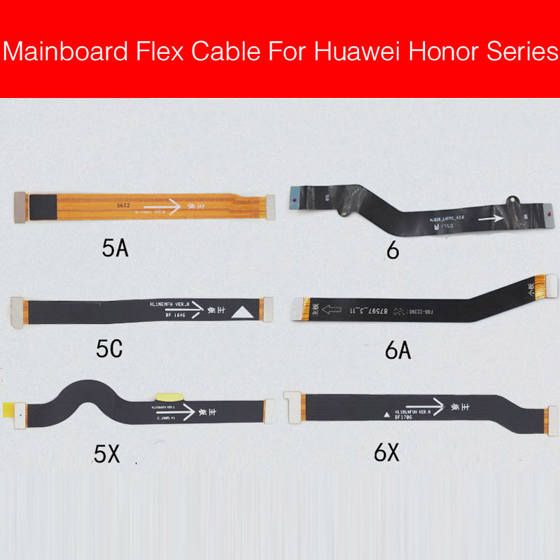 Main <font><b>Motherboard</b></font> Mainboard Flex Cable For <font><b>Huawei</b></font> <font><b>Honor</b></font> 5A 5C <font><b>5X</b></font> 6 6A 6X Mainboard Connector Flex Ribbon Cable Replacement Parts image