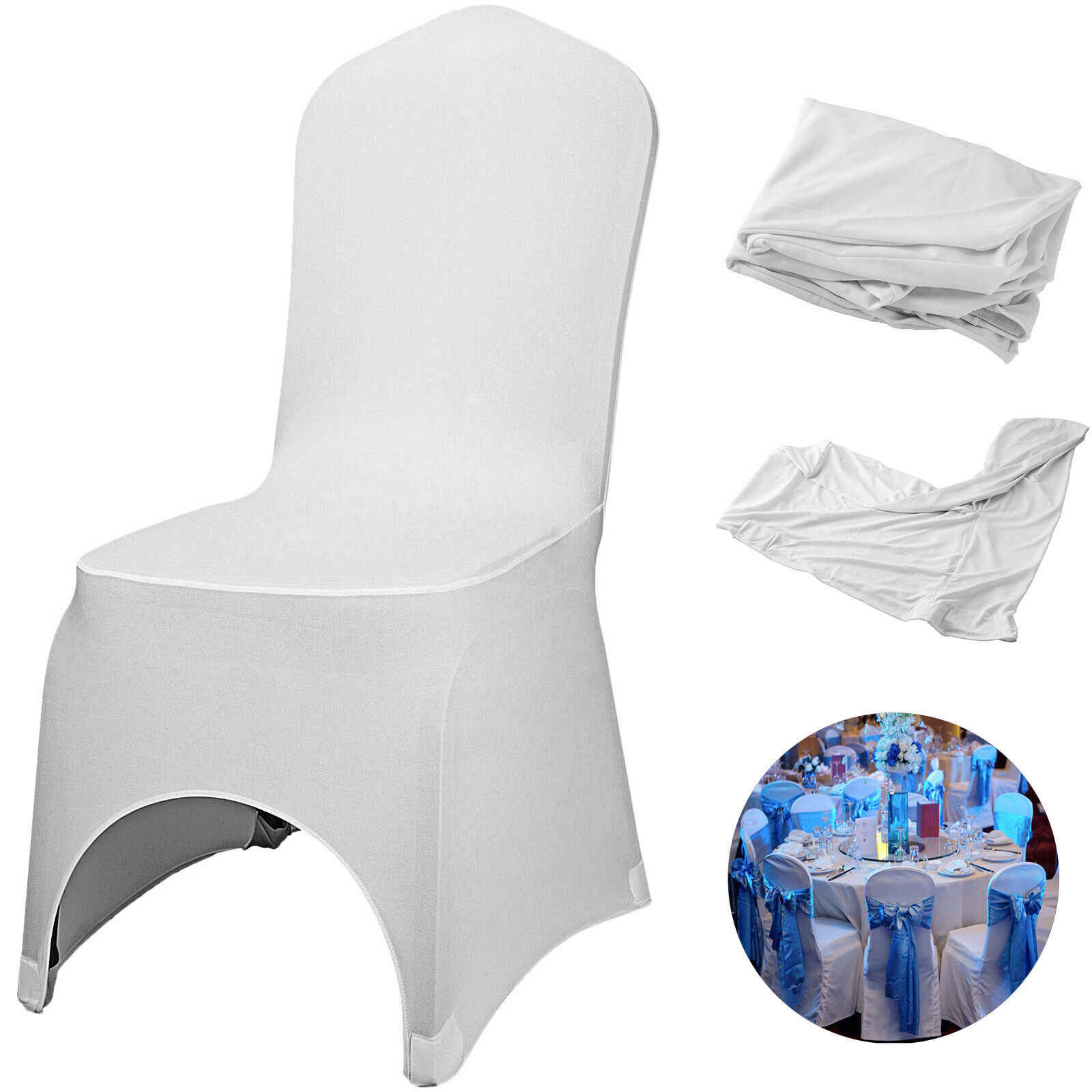 Dining Chair Covers Spandex Polyester Stretch Banquet Wedding Chair Decor
