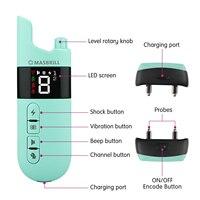 Elektrische Schock Hund Ausbildung Kragen Signalton Vibration Sound Wiederaufladbare Wasserdichte Rinde-Stop Kragen für Hund Fernbedienung Liefert