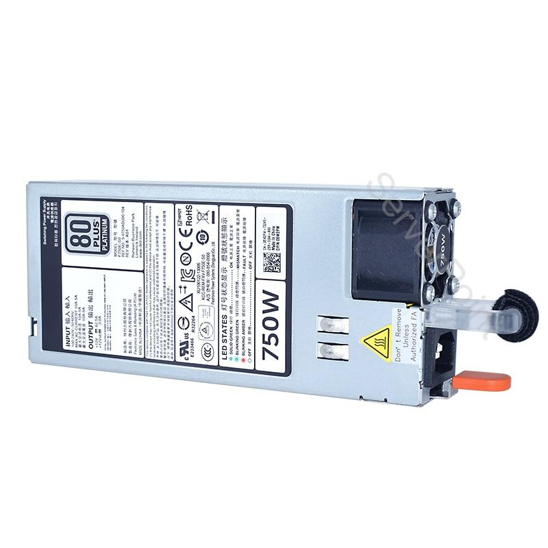 Оригинальный 750W Мощность питания 0CWKMX CN-0CWKMX F750E-S0 5NF18 для Мощность край R720 R620 сервер 90% новый