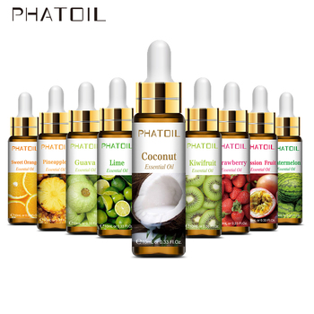 10ml with Dropper Pure Fruit Fragrance Essential Oil Diffuser Strawberry Mango Musk Banana Coconut Aroma for Candle Soap Making