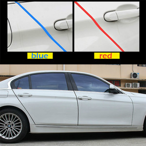 Image 4 - Universal Car Door Edge Rubber Scratch Protector 5M 10M Moulding Strip Protection Strips Sealing Anti rub DIY Car styling