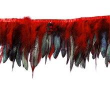 Натуральные петушиные перья 10 метров отделка бахромой для рукоделия