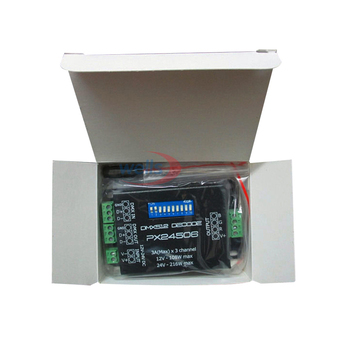 Wholesale DC12V-24V PX24506 DMX512 Decoder Driver 9A DMX 512 Amplifier Controller RGB LED Strip Light tape Lamp Module