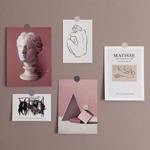 Ins Ретро абстрактное художественное украшение открытка 5 листов