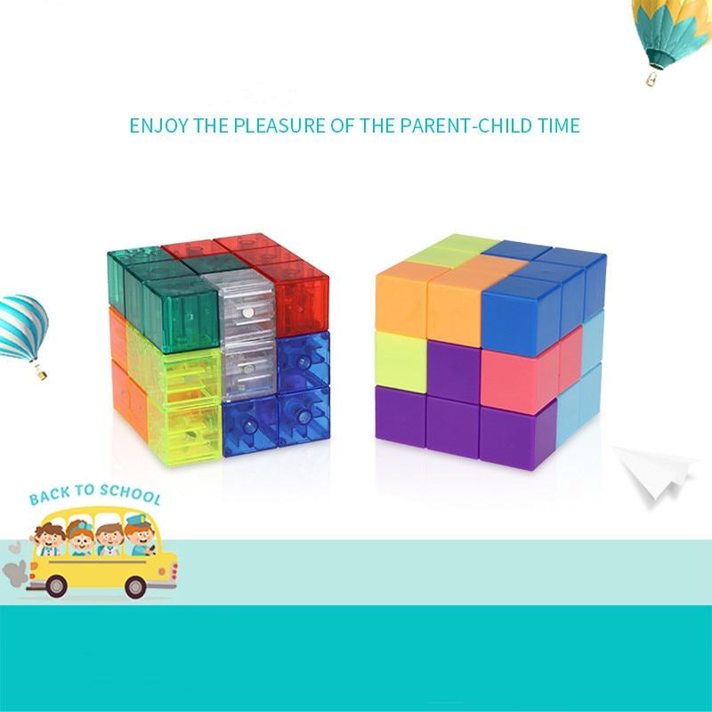 Yj diy cubo magnético blocos de construção
