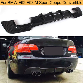 Carbon Fiber Rear Diffuser for BMW E92 E93 M Sport Coupe Convertible M Tech Bumper 2007 - 2013 325i Rear Bumper Diffuser Lip FRP image