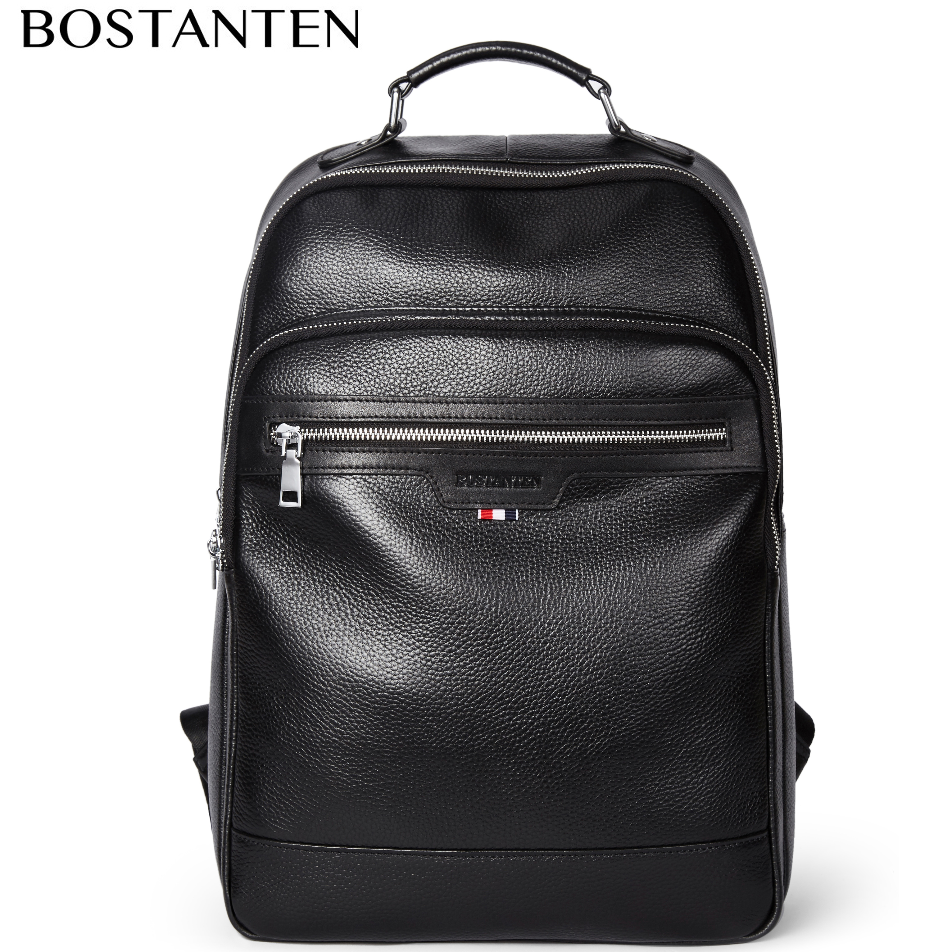 New Large Travel Backpack Teenagers School Book Bag Cowhide Genuine Leather Male Leisure Bag Men Laptop 14