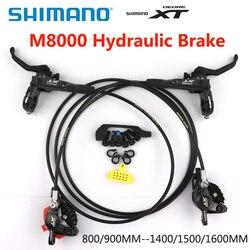 SHIMANO DEORE XT M8000 M8100 M8120 hamulec górski hydrauliczny hamulec tarczowy MTB ICE TECH lewy i prawy 800/900MM 1400/1500/1600MM w Hamulce rowerowe od Sport i rozrywka na