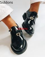 Women Summer Pumps Round Toe Chunky Low Heels Gladiator PU Leather Buckle Europe Casual Shoes Woman Mujer Sapato Feminino A29
