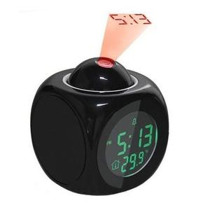 Image 3 - 2019 new LCD Projection Voice Talking alarm clock backlight Electronic Digital Projector Watch desk Temperature display