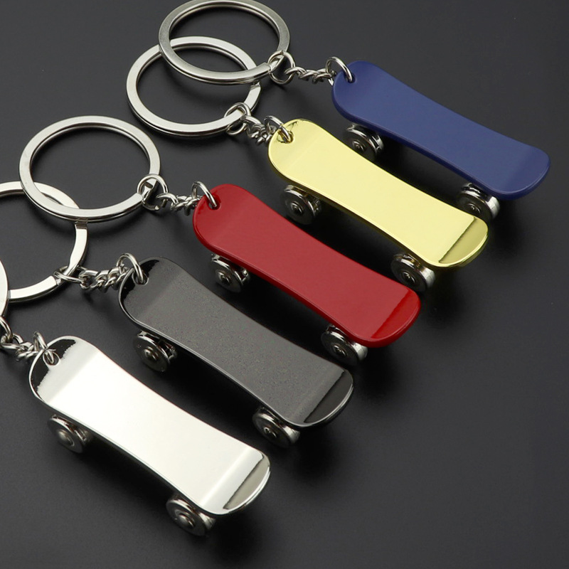 Skateboard key chain metal keychain New scooter advertising promotional gifts K2391(China)