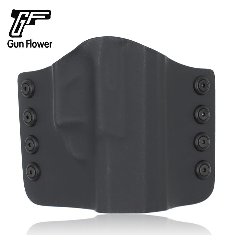 Gunflower tactique à l'extérieur de la ceinture CZ P10C pistolet pochette Kydex étui avec boucle de ceinture