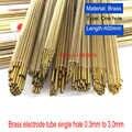 Запчасти сверлильной Машины медных электродов трубки с одним отверстием для крепления Диаметр 0,5/0,8/1,0/1,5*400 мм для EDM сверлильный станок