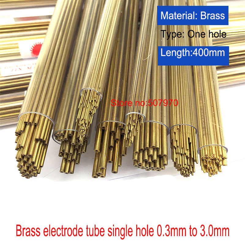 Drilling Machine Parts Brass Electrode Tube 0.5/0.8/0.9/1.0/1.5*400mm One Hole For EDM Drilling Machine