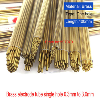 Drilling Machine Parts Brass Electrode Tube 0.5/0.8/0.9/1.0/1.5*400mm Single Hole For EDM Drilling Machine