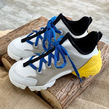 New High Quality Spring Luxury Brand Fashion Round Toe Lace up Flat Shoes Women Sneakers