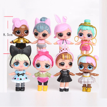 8pcs/set Fashion Surprised LOLS Dolls Unpacking Action Figure Toys For Egg Children Gifts Dropshipping