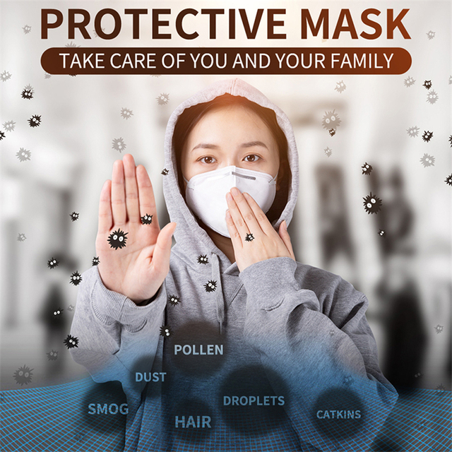 10 PCS KN95 Children's Masks Anti-Haze Fog Breathable Kids Masks Children Protective KN95 Mouth Face Mask Boy and Girl Dustproof 5