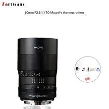7 artesãos 60mm f2.8 1:1 lente macro ampliação é adequada para o canon eosm eosr e fuji m43 nikon montagem z