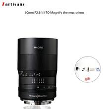 7 artigiani 60 millimetri f2.8 1:1 ingrandimento macro obiettivo è adatto per la Canon EOSM EOSR E Fuji M43 nikon z Montaggio