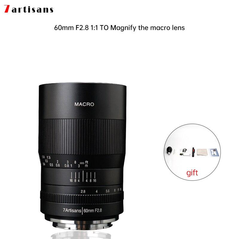 7artisans 60 мм f2.8 1:1 увеличение макро-объектив подходит для Canon EOSM EOSR E Fuji M43 nikon z крепление